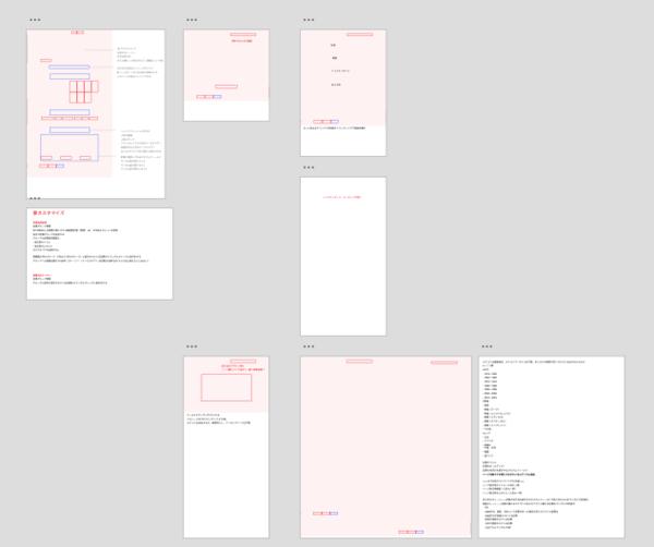 画像:XD で作成した仕様書のサンプル