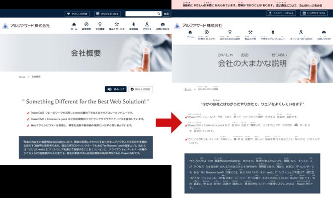 alfasado.net を変換した例